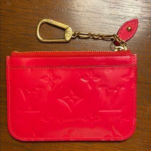 Louis Vuitton pink key pouch